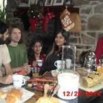 Sachin, Chris, Amisha, Avani, Peter, in PA for Christmas